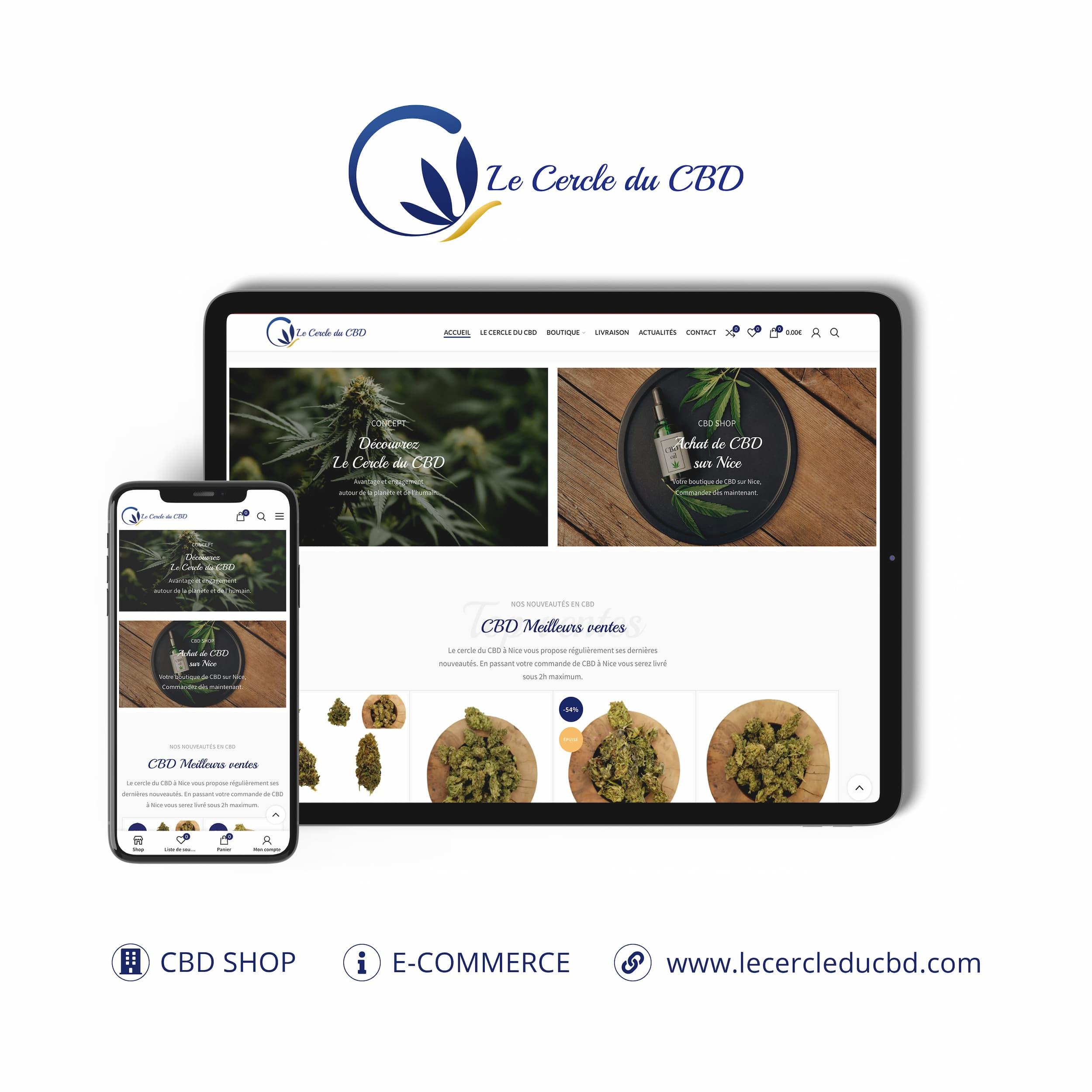 Le Cercle du CBD site internet monsitelocal.fr