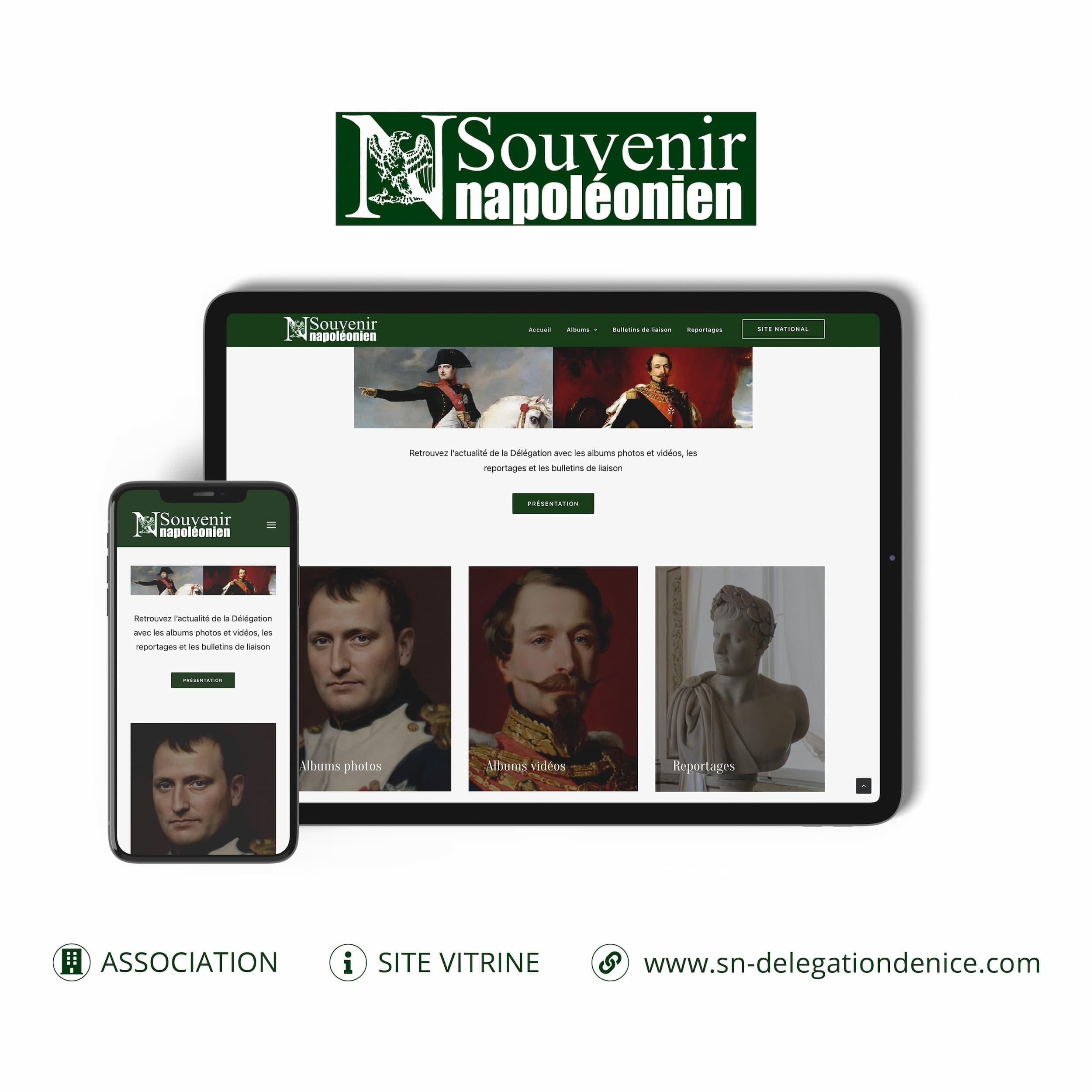 Souvenir Napoléonien site internet monsitelocal.fr