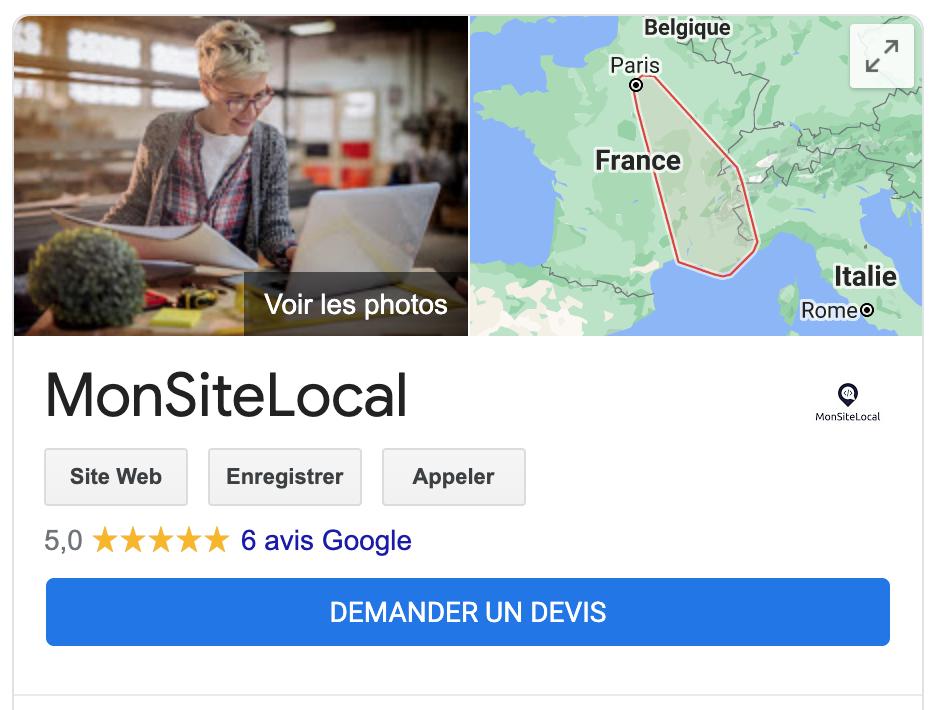 Avis Google MonSiteLocal