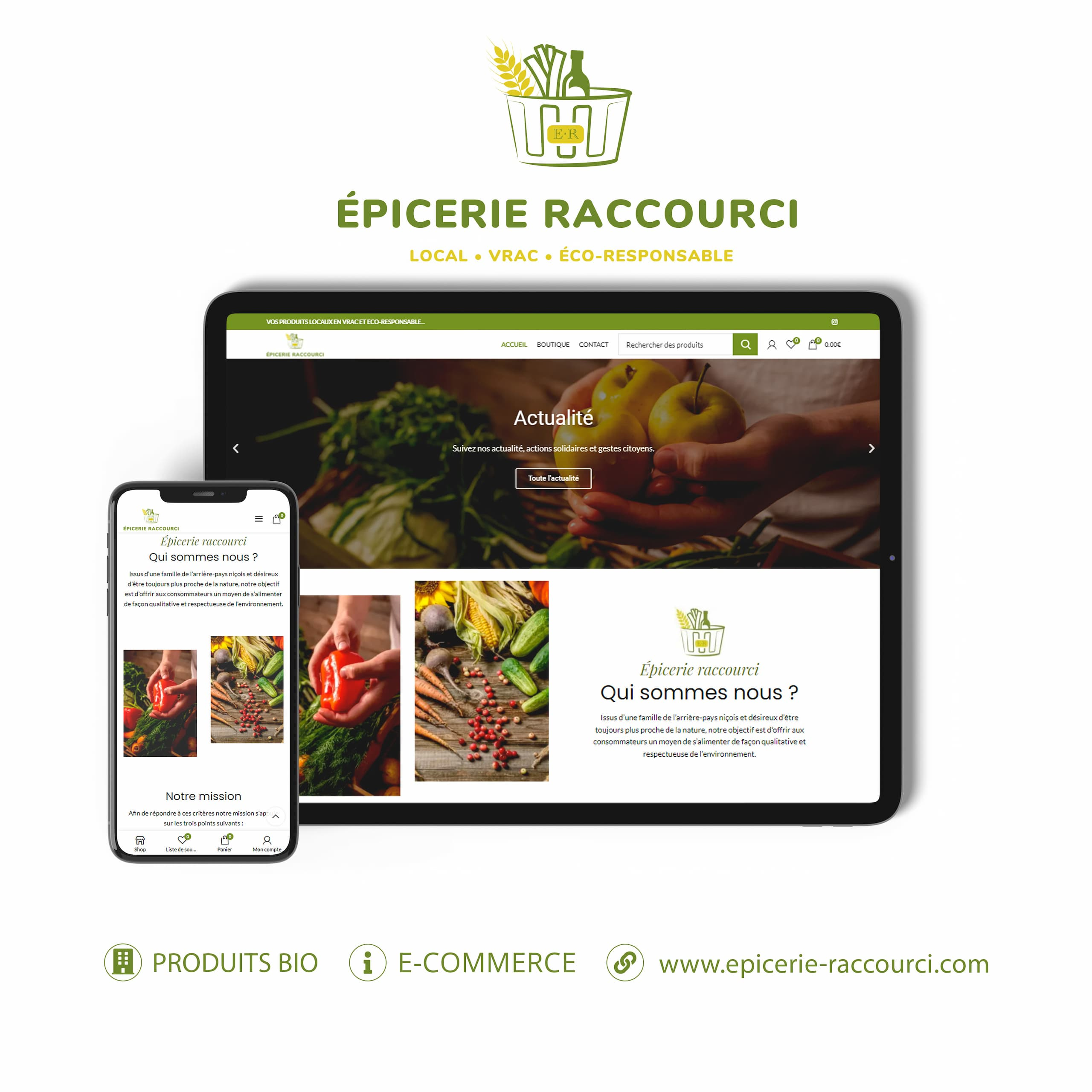 création site internet épicerie bio
